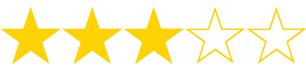 This image has an empty alt attribute; its file name is three-stars_0.png
